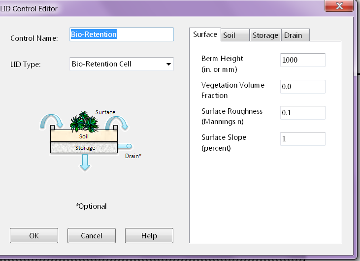 Number SWMM5 Simple 100 mm Rainfall model for Number LID modeling - Part 1